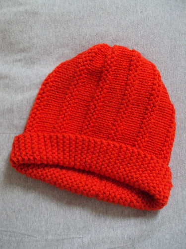 Orange Knit Hat