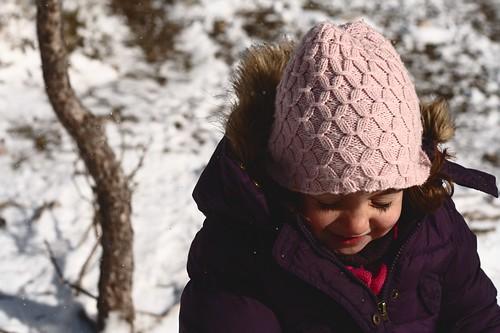 Disfrutando en la nieve