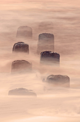Groynes In The Mist by Beeston Bostonian