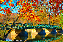 OK, so maybe I overdid the saturation a little (Jim Frazier) Tags: park old bridge autumn reflection heritage history fall water leaves lines metal stone gardens architecture reflections river landscape concrete mirror illinois nikon october highway scenery iron peace fallcolor geneva footbridge steel smooth scenic structures bridges landmarks peaceful sunny landmark architectural historic il lincoln infrastructure limestone historical kanecounty foxriver kane forestpreserve oversaturated preserve q3 crossings spans 2010 horizontallines fabyanforestpreserve truss lincolnhighway countypark d90 fabyan kanecountyforestpreserve capturenx nikoncapturenx forestpreservedistrictofkanecounty genevaarea ldjanuary genblog jimfraziercom ld2011 101029c