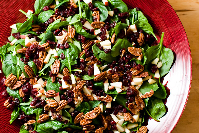 Christmas salad with balsamic vinaigrette