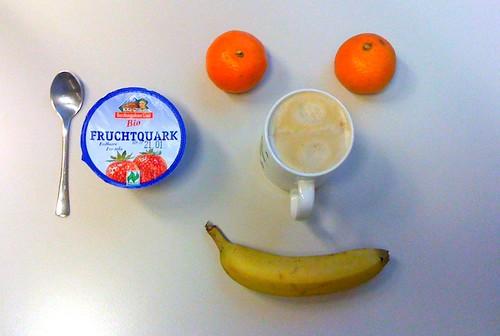Fruchtquark, Clementinen, Banane & Tauwetter