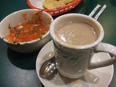 Champurrado and salsa