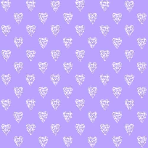 LavenderWhiteHeartPattern