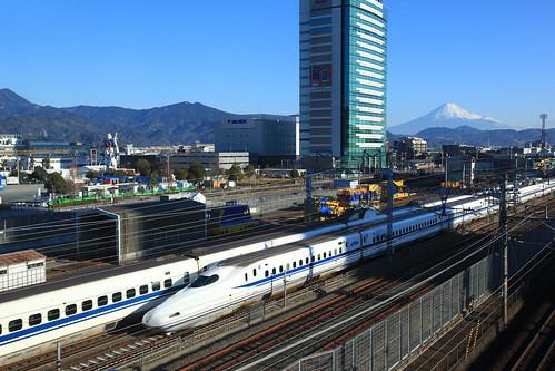 GUNDAM + Mt.Fuji + SHINKANSEN N700