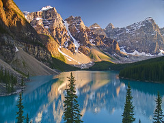 Cool Blue III - Moraine Lake (Matt Champlin) Tags: life blue camping sunset lake snow canada mountains reflection ice nature rockies cool colorful peace shot hiking roadtrip alberta glaciers banff lakelouise tranquil moraine banffnationalpark morainelake canadianrockies coolblue valleyofthetenpeaks glaciallake coolshots otherworldy coolpicture valleyofthe10peaks sunsetmorainelake canadianscenicshots canadainsummer