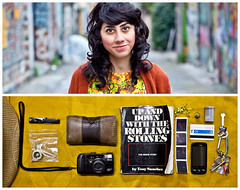 Gabby Diptych (J Trav) Tags: portrait persona diptych theitemswecarry eoscanon5dmarkii showusthecontentsofyourbag whatsinyourbagdiptychs