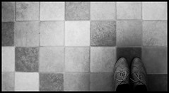 Brogues (Sarah Cowan's mix of photo love) Tags: bw shoes tiles brogues ourdailychallenge