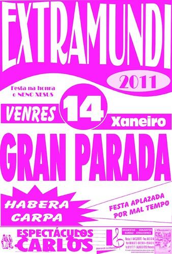 Padrón 2011 - Extramundi - Festas do Neno Xesús - cartel