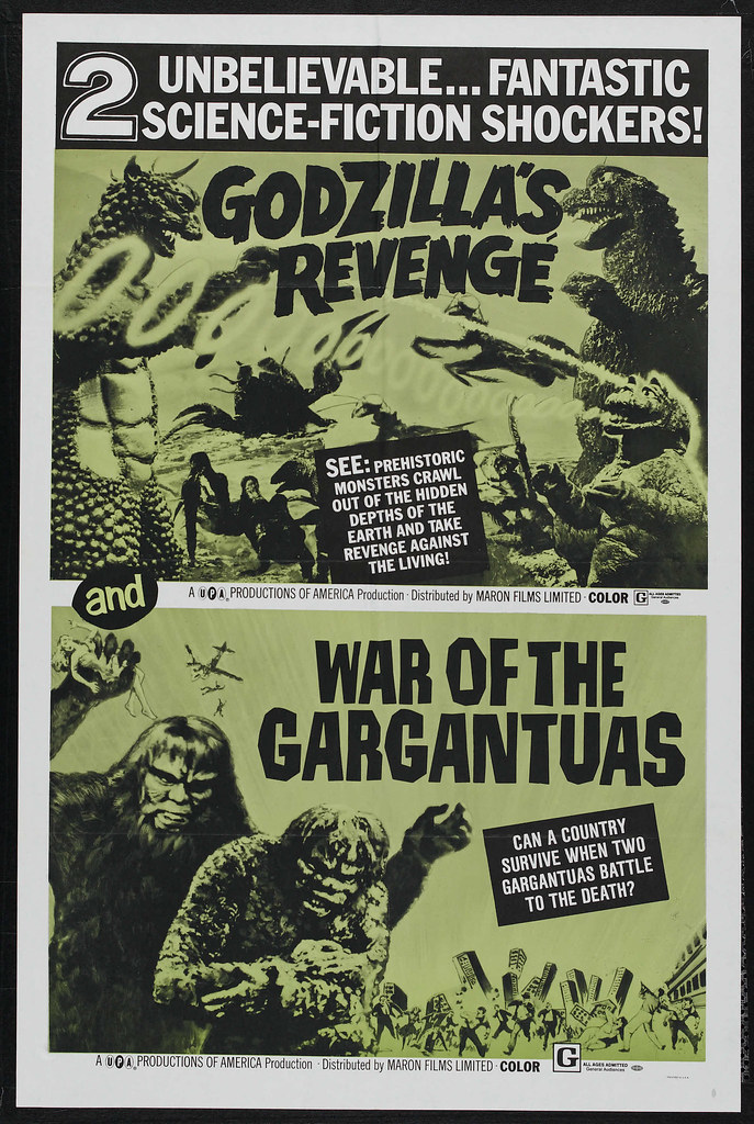 Godzilla's Revenge / War of the Gargantuas Combo (Toho, 1969)