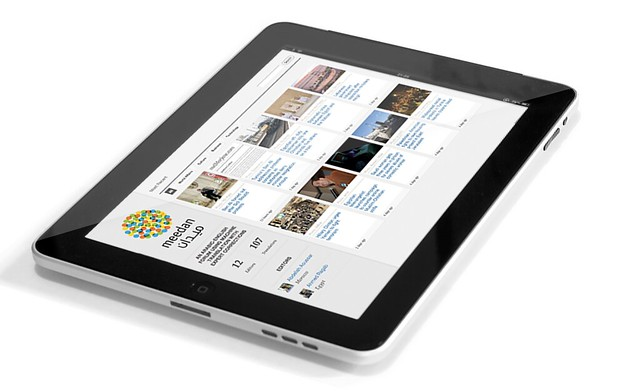Photograph of Apple's iPad Tablet Computer