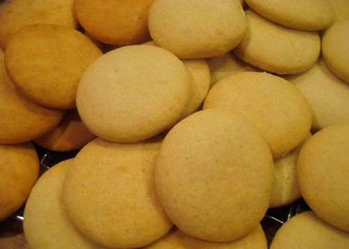 soft sugar cookies baked