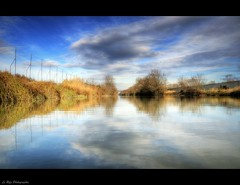 La Camargue (Le***Refs *PHOTOGRAPHIE*) Tags: light sky reflection water colors clouds landscape soleil nikon reflet ciel nuages paysage hdr camargue stgilles d90 petitrhone lerefs