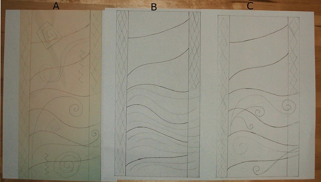 First sketches for Dr F's quilt