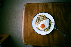 (brianwferry) Tags: food film home lomolca friedegg leftoversforlunch
