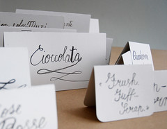 DSC_0007 (Studio Fludd) Tags: party white ink handwriting paper grey tags brush calligraphy basic italic fludd menù