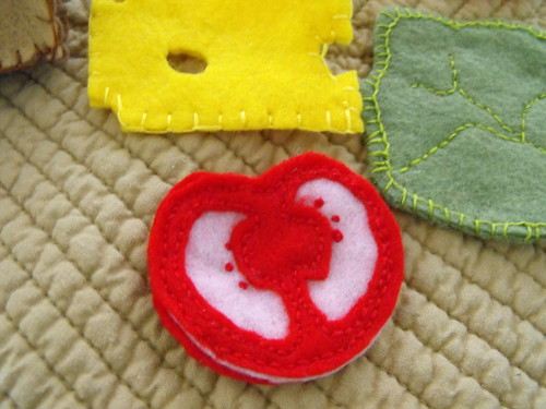 Felt sandwich ingredients