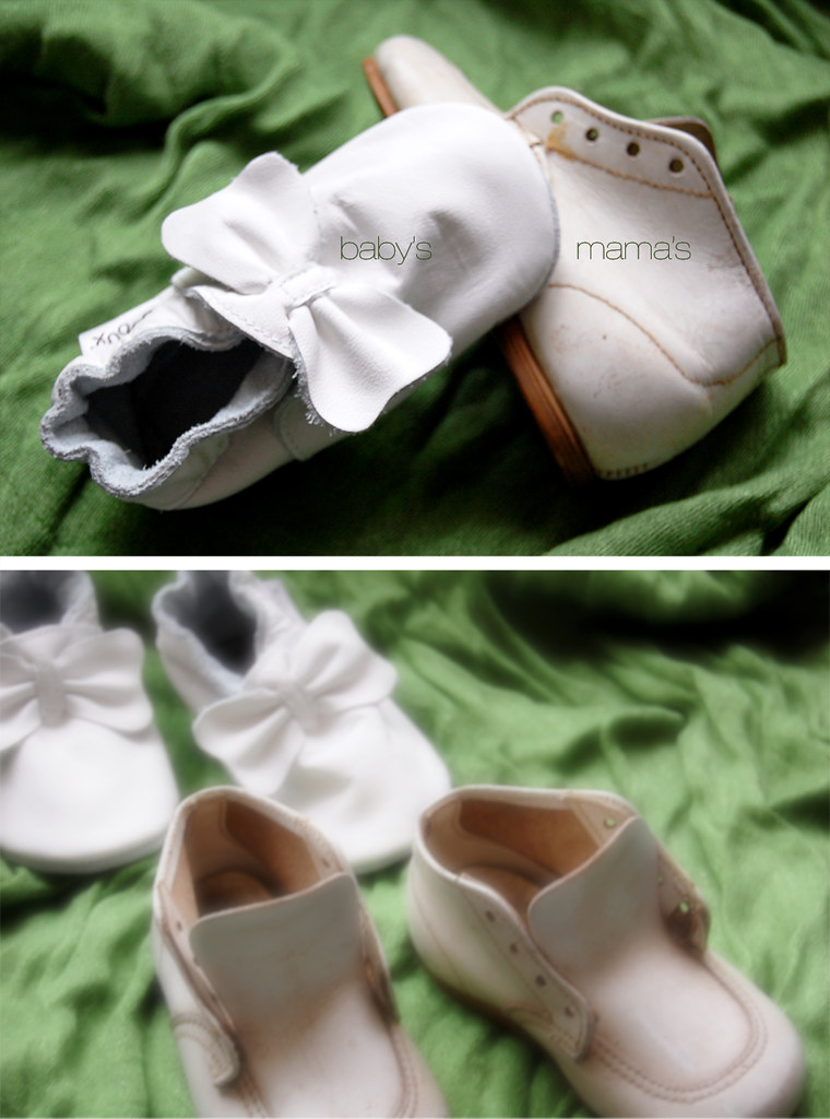 baby shoes diptych