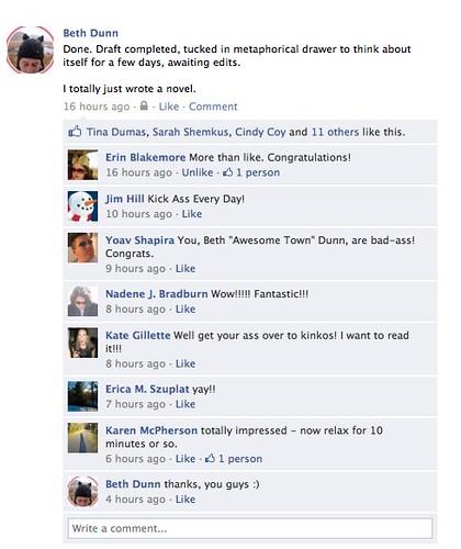 Facebook Status: Done