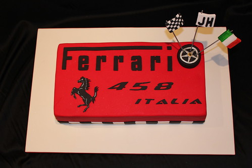Ferrari 458 Chocolate Jaffa Mud Cake