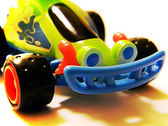 January 18, 2011: RC (eighthave) Tags: blue shadow red black green smile car wheel toy eyes toystory wheels january headlights disney tires bumper pixar rc radiocontrol 2011 disneypixar