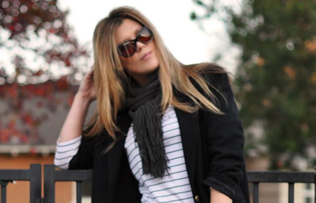 la fashion blogs, los angeles, striped shirt, scarf, sunglasses, DSC_0060