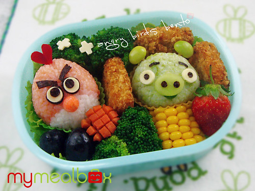 Angry Birds bento box from My Meal Box