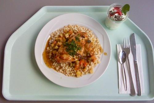 Saltimbocca vom Huhn auf Weizensockel / Chicken Saltimbocca