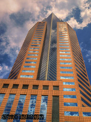 Nakatomi Plaza (54 Ford Customline) Tags: city sky tower clouds skyscraper reflections vertigo melbourne hdr officeblock melbournecbd diehard nakatomiplaza casseldenplace