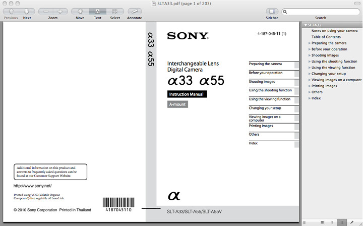 sony a55 manual download the pdf now rh dpnotes com sony instruction manual download sony instruction manuals download