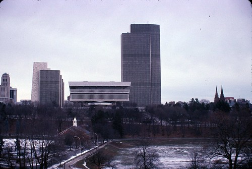 Empire State Plaza in Kodachrome December 25 2010
