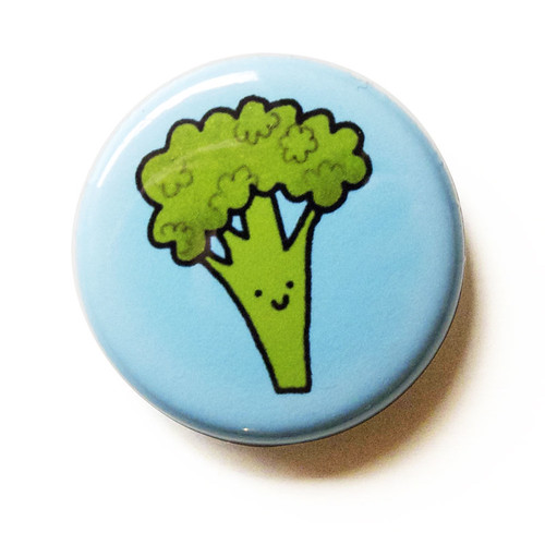 Smiling Broccoli - Button 01.21.11