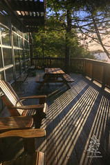 Tuff City (erik g peterson) Tags: shadow sun rain yoga relax hotel chair surf relaxing surfing lodge resort deck tofino railing westcoast picnictable pacificrim middlebeachlodge erikpeterson