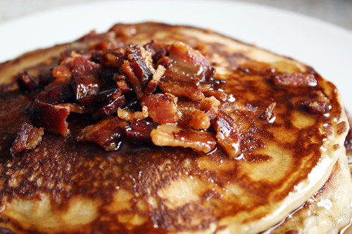 bacon + syrup topping.