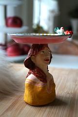 Teelichtbstenhalter (krewerkerstin) Tags: teelichtbstenhalter tee kerzen kerzenhalter clay modellieren gesicht bste malen malerei kunst handgefertigt handmade zu verkaufen