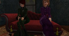 Listening to Damien's story (Allie Carpathia) Tags: victorian brothel friends autumn darkradiance secondlife