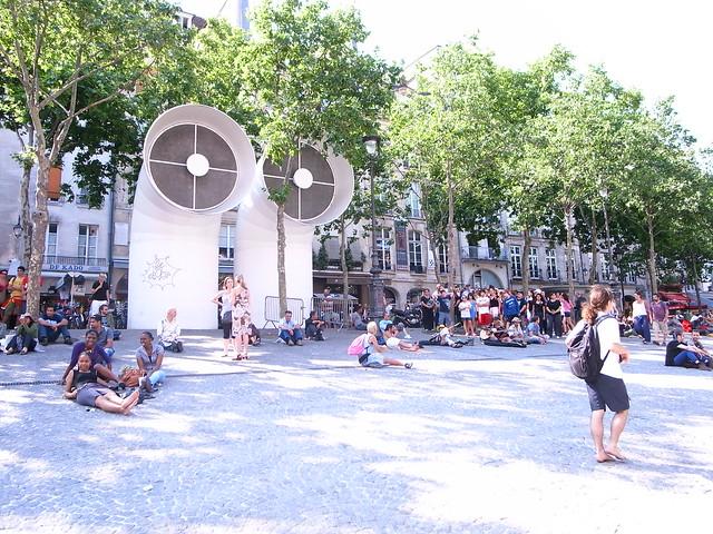悠閒的廣場