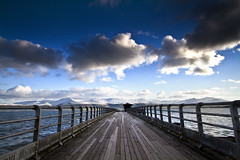 walk to narnia (i.m.j.) Tags: blue sea mountains water wales clouds landscape coast pier vanishingpoint cymru wideangle snowdonia variation cpl wfc eryri anglesey ynysmn arfordir tirlun totalphotography polarisingfilter efs1022mm13545usm canon7d wfcbeaumaris2010