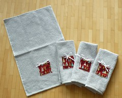 Fidgy Pudding pressie towels