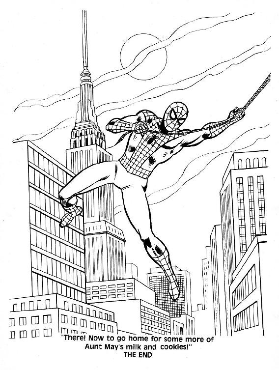 Spider-Man Unmasked! Coloring Book049
