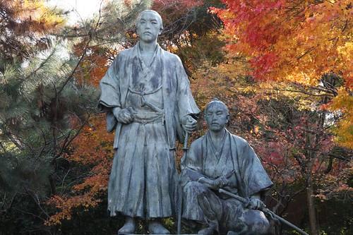 Ryoma and Shintaro statue
