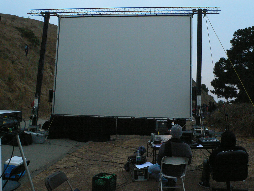 Rear Projection Screen for outdoor event
