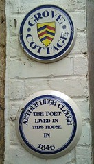 Photo of Arthur Hugh Clough white plaque
