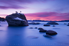 Pretty in Pink - Bonsai Rock, Carson City County, Nevada (Jim Patterson Photography) Tags: travel pink blue sunset sky lake nature clouds landscape nevada laketahoe nikkor1224mm nikond300 bonsairock jimpattersonphotography carsoncitycounty jimpattersonphotographycom seatosummitworkshops seatosummitworkshopscom