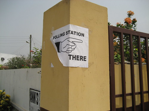 polling station there