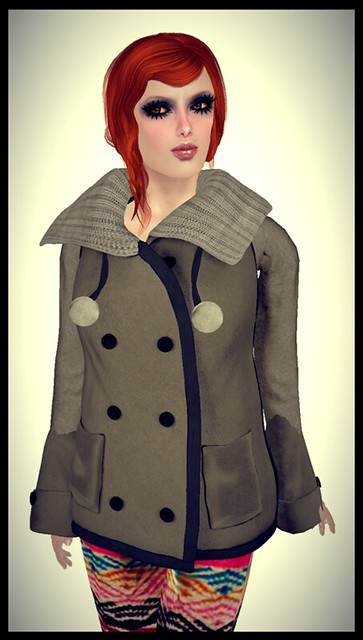 *Les Petits Details* - *Classic Warm Coat* Brown Brown not free