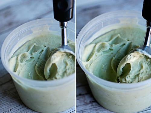 scooping avocado ice cream!!
