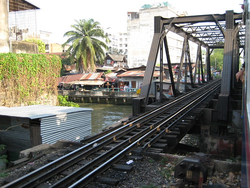 Rail bridge across a Bangkok canal 1