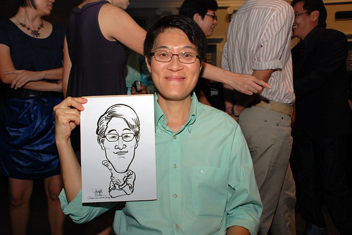 Caricature live sketching for Autism Association(Singapore)- Staff Dinner 2010 - 3