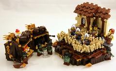 Wheat (Bart De Dobbelaer) Tags: castle lego coconut wheat fantasy montypython vignette minion witchsquest
